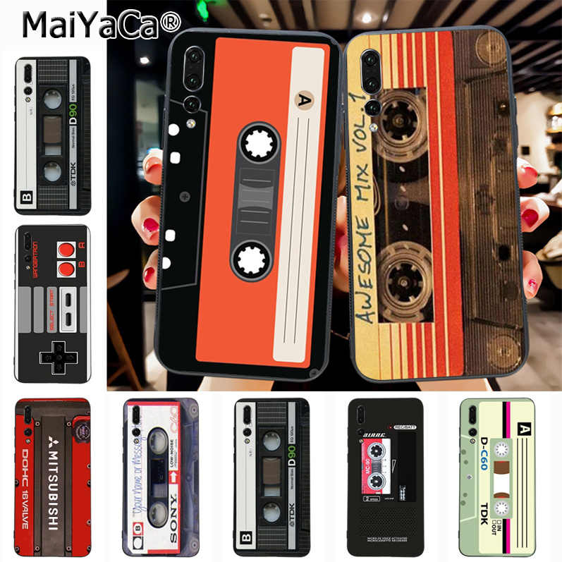 Maiyaca mixtape Audio cassette Ultra Thin Cartoon Pattern soft tpu Phone Case for Huawei Honor 9 Honor 10 P20 case Coque