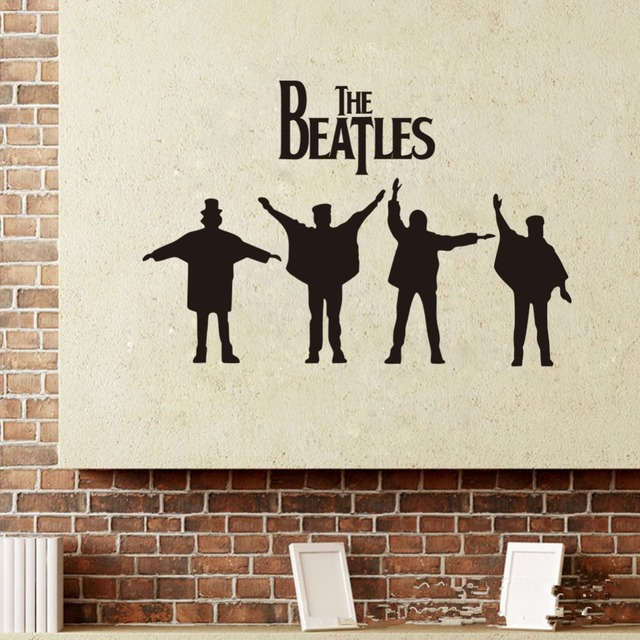 Beatles Wall Decals 2018 New Designs Removabl Music The Vinyl Stickers Home Decor