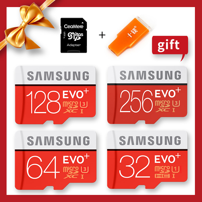 SAMSUNG 100% Original Genuine EVO Plus Microsd Cards Memory Card 256G 128GB 64GB 32GB 16GB 8GB Class10 Micro SD TF Flash Card