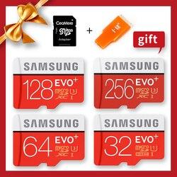 Samsung micro sd original 100 mb/s 512 gb 256g 128 gb 64 gb 32 gb cartão de memória ush-3/ush-1 sdxc classe evo mais micro tf cartões sd