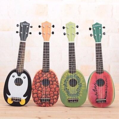 Ukulélé Soprano 21 pouces guitare hawaïenne belle 4 cordes Ukelele Guitarra Uke acajou artisanat bois Instruments de musique