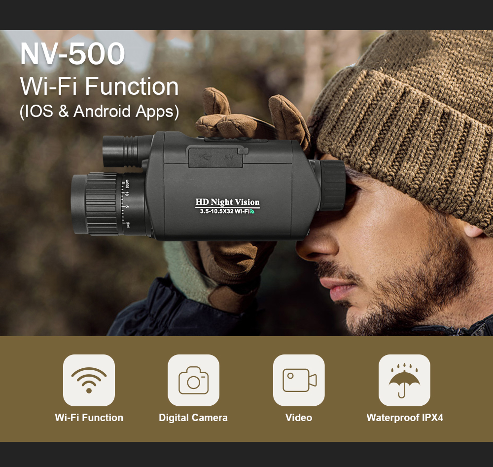 Image 3 - BOBLOV WiFi Night Vision Goggles 3X Monocular Telescope Digital Vision Night 3.5 10.5 x 32 Night Vision riflescope-in Night Visions from Sports & Entertainment