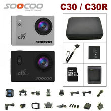 Action Camera SOOCOO C30 / C30R 4K Gyro Wifi Adjustable Viewing angle 170 Degrees NTK96660 30M go Waterproof pro Camera 2.0 LCD