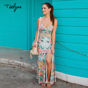 bcf75d0ea00e TEELYNN Boho 2018 sexy summer long women dresse beach