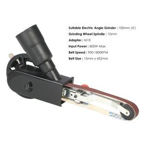 """Image 5 - Açı öğütücü Mini DIY zımpara zımpara kayışı adaptörü taşlama makinesi Bandfile kemer kafa zımpara 115mm 4.5 """"ve 125mm 5"""""""