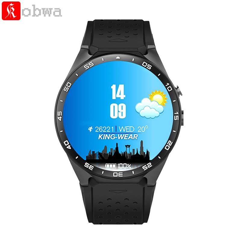 KW88 MTK6580 Android 5.1 OS Smart Watch 3G Phone 400*400 Screen Quad Core Smartwatch Support SIM Pedometer Heart Rate Tracker kw88 smart watch android 5 1 os quad core 400 400 smartwatch mtk6580 support 3g wifi nano sim card gps heart rate wristwatch