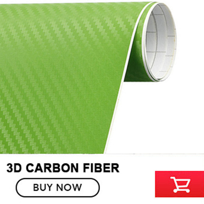 3D Green Carbon Fibre Vinyl Sheet Wrap Sticker 3D Multipurpose Carbon Fiber Car Stickers size:5x98FT 40cmx200cm car styling 3d 3m carbon fiber sheet wrap film vinyl car stickers and decals motorcycle automobiles car accessories
