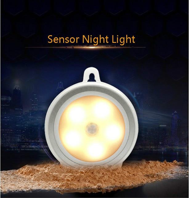 3 st AAA Batteridriven LED Nattlampa PIR Människokropp Rörelsessensor Vägglampa för toalettskåp Trappor Pathway inomhusbelysning