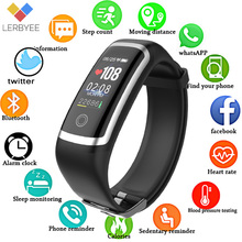 Lerbyee Fitness Tracker M4 Smart Heart Rate Monitor Bracelet Calories Waterproof IP67 Smart Band Fashion Watch for iOS Android