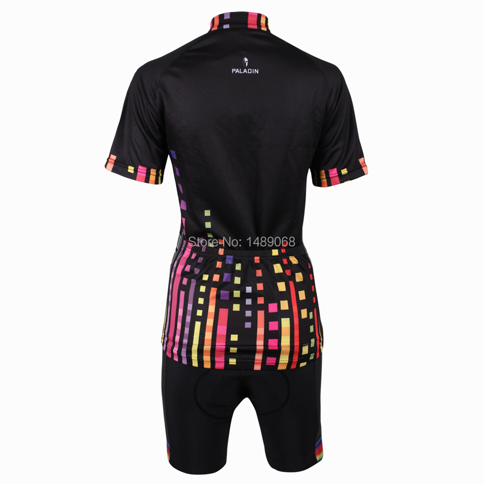 Paldin Colored plaid cycling jersey women cycling set bicycle clothing  cycling skinsuit mountain bike jersey free Shopping 216-in Cycling Sets  from Sports ... d20eabee0