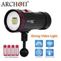 ARCONTE 5200lm luce Subacquea Impermeabile 100 m Diving fotografia luce di riempimento CREE LED bianco rosso uv di colore foto subacquee video luci