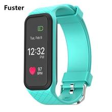 Фустер L38i tft цветной Сенсорный экран Дисплей smart Сердечного ритма Monitores шагомер калорий SMS напоминание Смарт Браслет