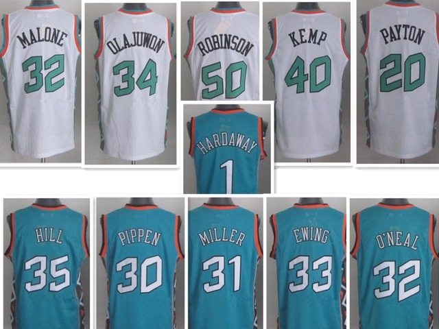 71371996 Free Shipping East 1996 All Star Jersey Throwback Basketball Jersey Pippen  Jordan O Neal Kemp Hill Retro Jersey 96 All Star