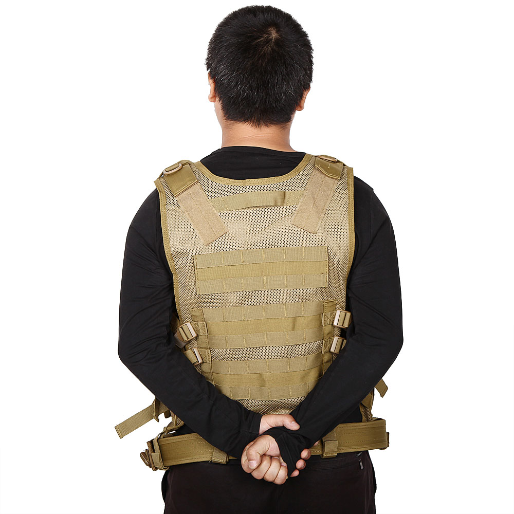 SWAT Tactical Assault Combat Vest Outdoor CS War Game Paintball Airsoft Training Mesh Waistcoat Safety Clothing Hunting Armour
