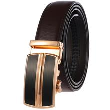 Brand Cow Leather Belt for Men Luxury Fashion Automatic Buckle Male Belts Business Style Real