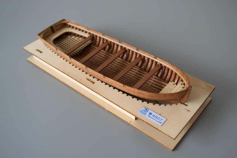 NIDALE model Free shipping Scale 1:48 Laser-cut wooden life boat model kit 195mm J4807 Launch lifeboat model