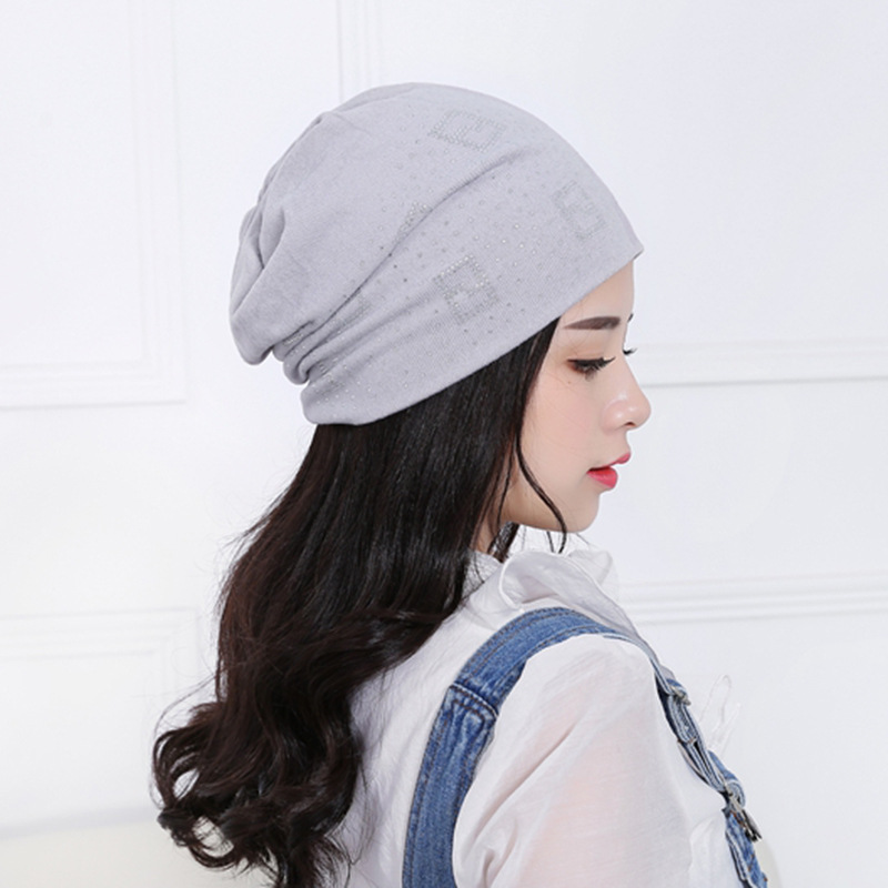 bb5cdf84acd Aliexpress.com   Buy 2018 Beanie Hats for Women Beanies Autumn and Winter  Brand Knitted Hat Turban Diamond Skullies Hip hop Caps Stocking Ladies Lnit  from ...