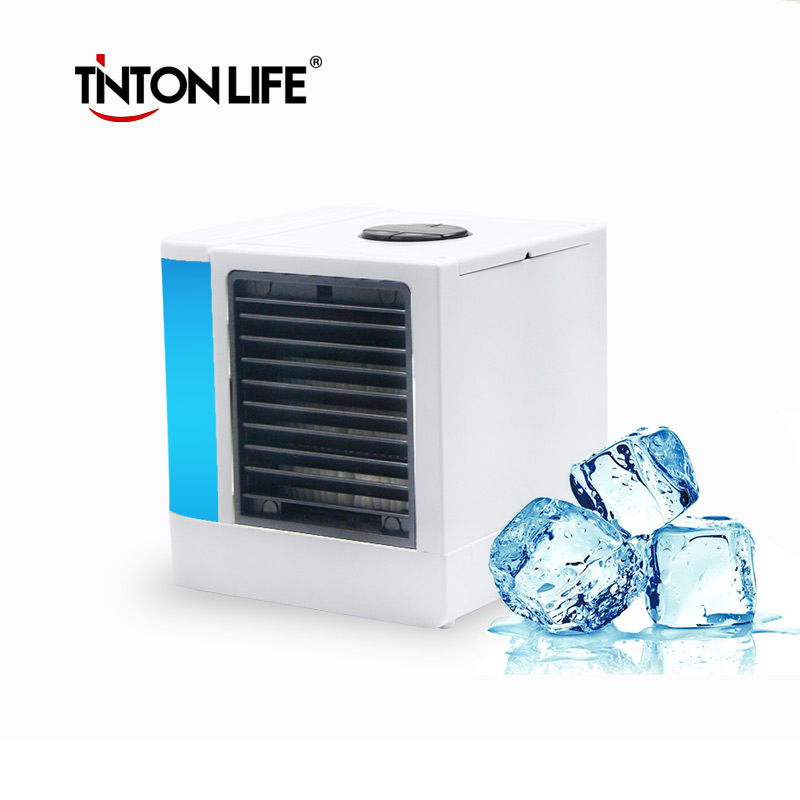 TINTON LIFE USB Portable Electric Fans Air Conditioner Air Cooler Mini Fan Table Fan Cooling For Home Office 3 files mini usb hand fan cooling for home outdoor portable fan air conditioner cooler fans with 1200ma rechargeable battery