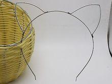 10 Silver Tone Metal Cat Ear Embryo Headband Hair band For Hair Tiara Princess
