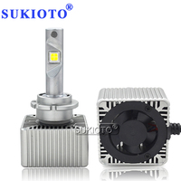 SUKIOTO EMC Canbus D1S led Bulb D2S D3S D4S D5S LED Projector Bulb Original Size D1S 6000K Car Headlight lamp Styling Accessory