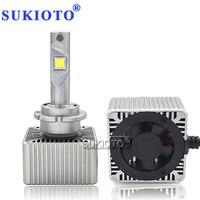 SUKIOTO EMC Canbus D1S led Bulb D2S D3S D4S D5S LED Projector Bulb Original Size D1S 6000K Car Headlight lamp Styling Accessory