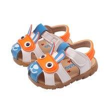 Детская летняя обувь для новорожденных, обувь для маленьких девочек и мальчиков, однотонная Нескользящая кожаная дышащая детская обувь, сандалии