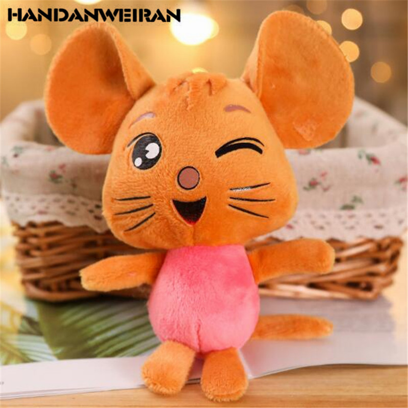 1PCS Plush Mouse Toys Cartoon Small Pendant Mini Soft Stuffed Mice Toy Doll Activity Gift For Kids HANDANWEIRAN 11CM