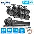 Sannce 8ch hd 720 p sistema de segurança cctv 8 pcs 1250tvl ahd 720 p câmeras de segurança dvr kit de vigilância por vídeo n ° 1 tb hdd