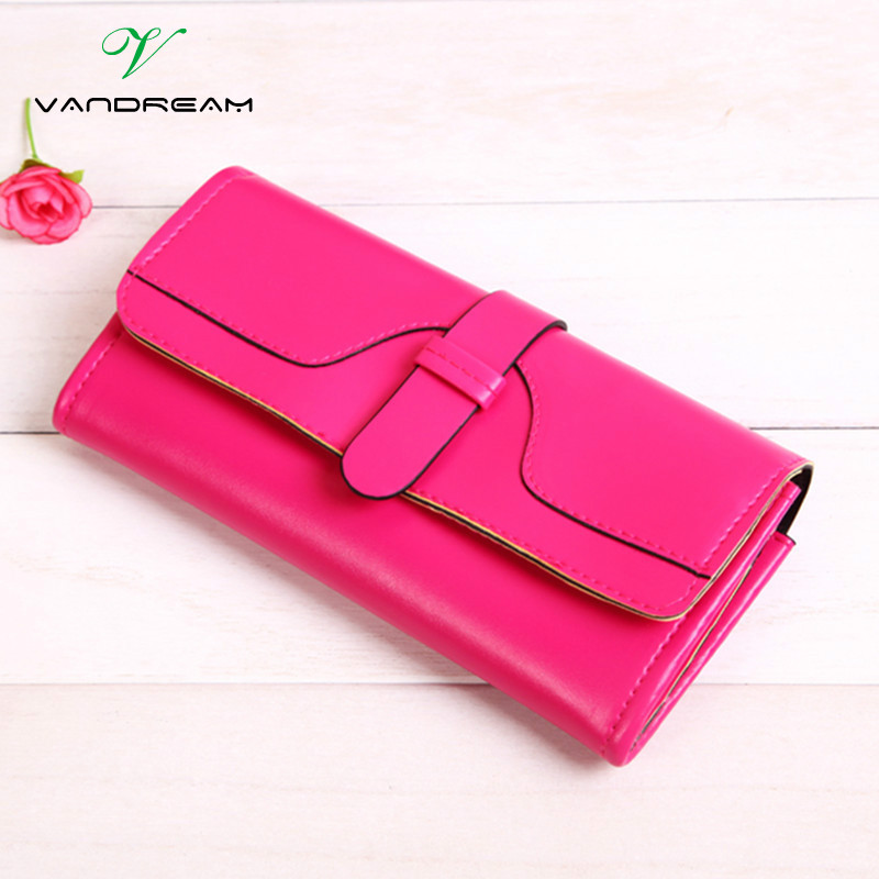 New Lady Purses 2016 Women Wallets Long Zipper Candy Color Girls Cheap Hot Design Vintage Women's Purse Phone Cards Clutch Bag 2016 cheap wig women lady scheap short