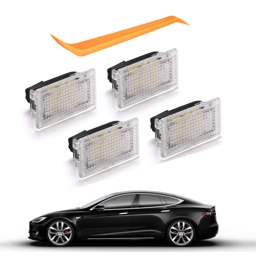 4pcs Upgrade LED Light Bulbs For Tesla Model 3 Model S Model X Bright Easy Plug Replacement LED Interior Lighting Indoor(China)