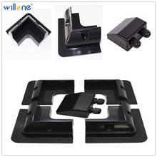 Willone 5pcs black ABS solar bracket mounting kits for RV/Caravan