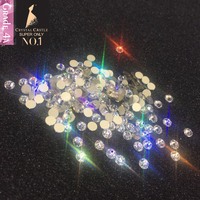 Crystal Castle 4A All Size Shiny Clear White Rhinestone Diy Strass Hotfix Non Hot Fix Crystal