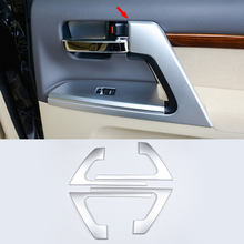 For Toyota Land Cruiser 200 FJ200 Accessories 2008-2017 Car Interior Door Handle Styling Cover trim wooden color door holder handle ac outlet dashboard trim lc 200 car styling 2016 2017 for toyota land cruiser 200 accessories
