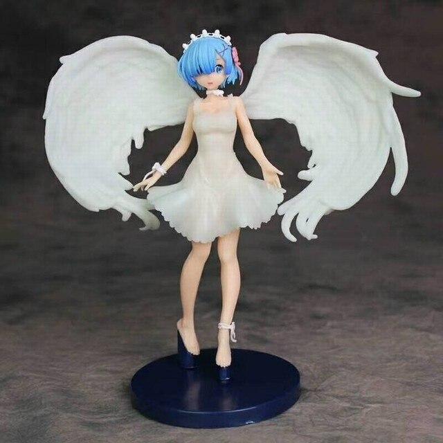 アニメ再: 別の世界での生活から零図おもちゃ天使レムpvcアクションフィギュア模型玩具ギフト