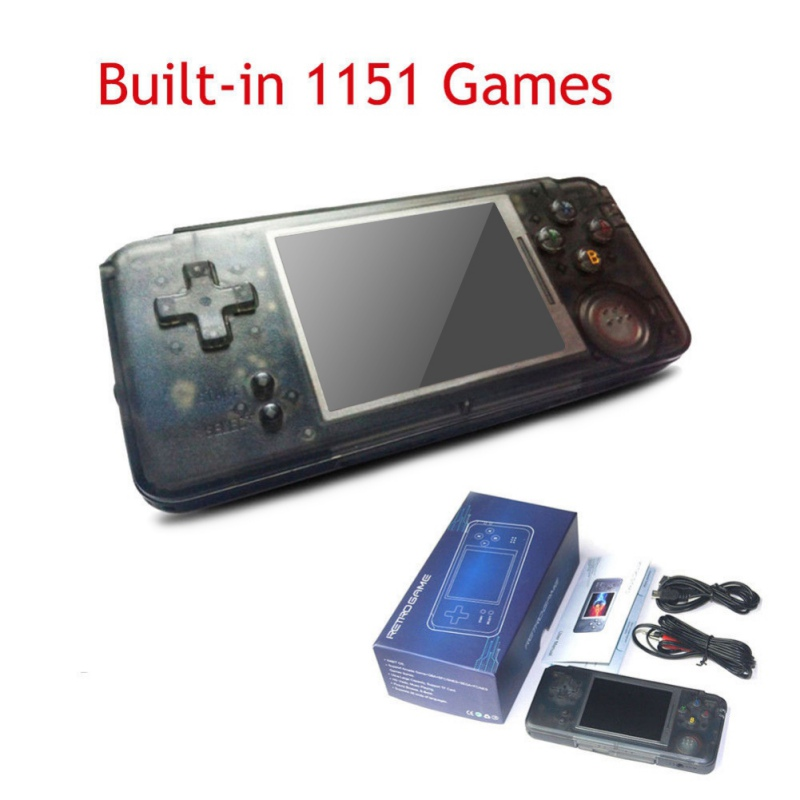 лучшая цена Retro Handheld Game Console 3.0 Inch Console Built-in 818 Games Support For NEOGEO/GBC/CP1/CP2/GB/GBA
