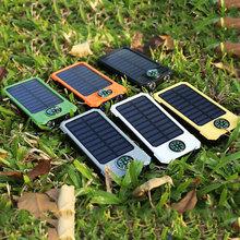 O dużej pojemności 20000mAh mobilna energia słoneczna wodoodporna kompas bateria słoneczna przenośna ładowarka podwójne wyjście USB bateria zewnętrzna tanie tanio centechia Panel słoneczny Monokryształów krzemu DZ00909-01 145*75*20mm Suitable for all devices with USB charging Durable plug and play