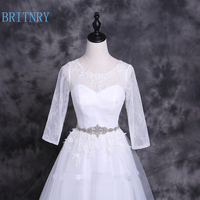 BRITNRY New Arrivals Rhinestone Belt Ivory Wedding Dress Belt High Quality Bridal Sashes Elegant Crystal Belt