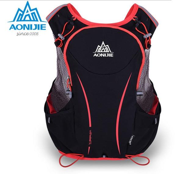 Prix pour Aonijie e906 nylon 5l en plein air sacs de randonnée sac à dos gilet marathon courir vélo sac à dos pour 1.5l d'eau sac
