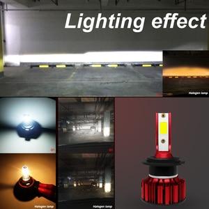 Image 3 - COOLFOX H7 80W 자동 12000Lm h4를위한 LED 램프 hi lo Led 빛 터보 전구 헤드 라이트 9005 9006 H11 COB 칩 먼 Ampul HB4 6000K