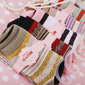 free shipping [Love] Korean pop silk national wind socks children retro striped cotton socks pure cotton socks Socks