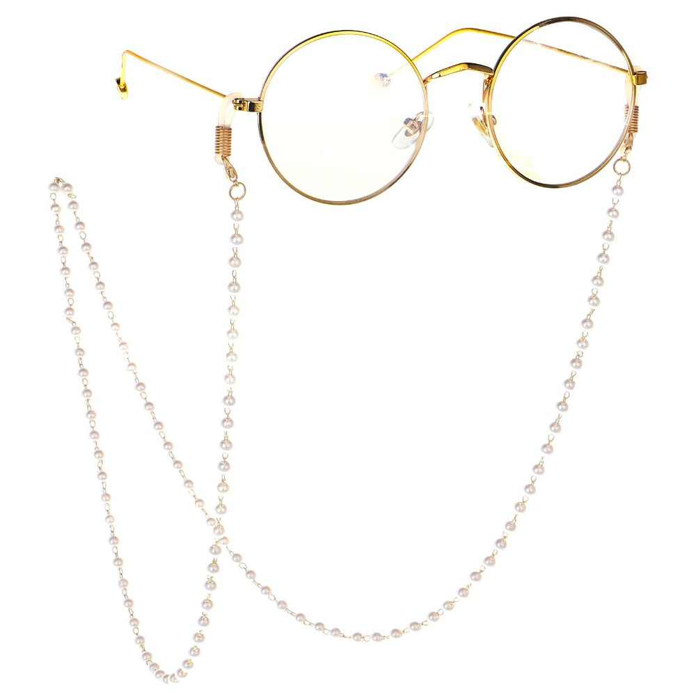 Handmade Elegant Pearl Beaded Glasses Chain Women Sunglasses Lanyard Strap Reading Eyeglass Chains
