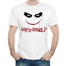 Joker Jack Napier T Shirt Casual Mens Fashion Short Sleeve Why So Serious T-shirt Tops Tees tshirt White