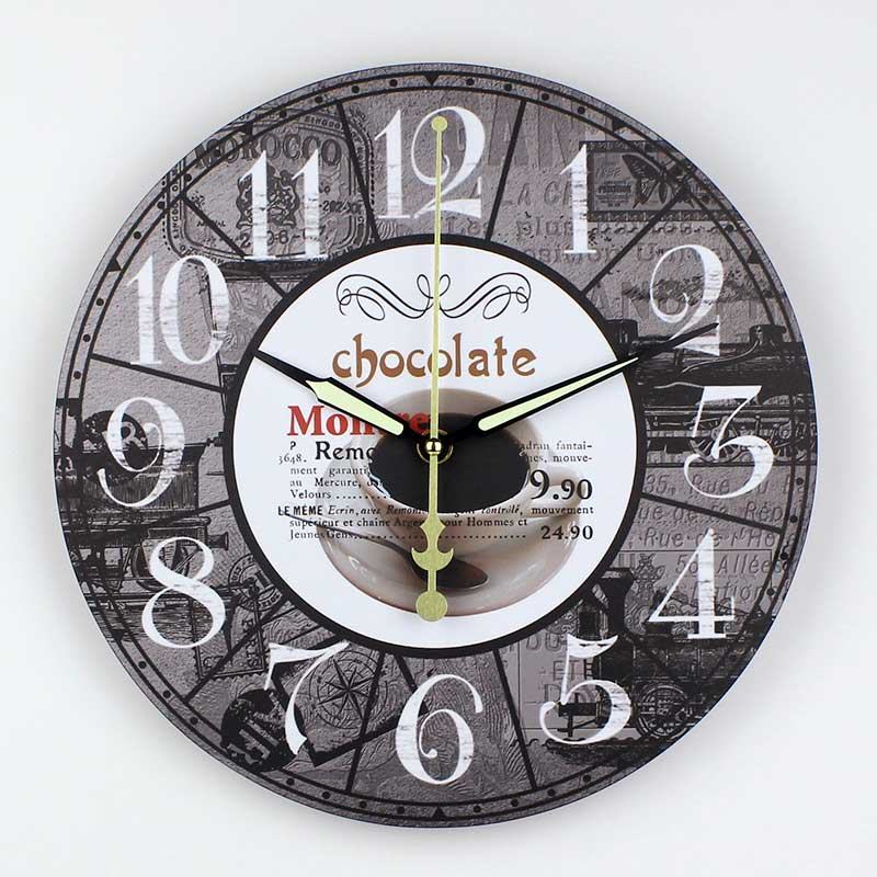 . US  15 96 35  OFF Modern coffee large decorative wall clocks mute Home  decoration kitchen wall clock fashion wall watches orologi parete in Wall
