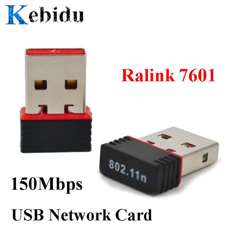 Portable 150Mbps USB 2.0 WiFi Wireless Adapter Network LAN Card 802.11 Ngb Ralink 7601 Fit For Apple Macbook Pro Air Win Xp 7 8