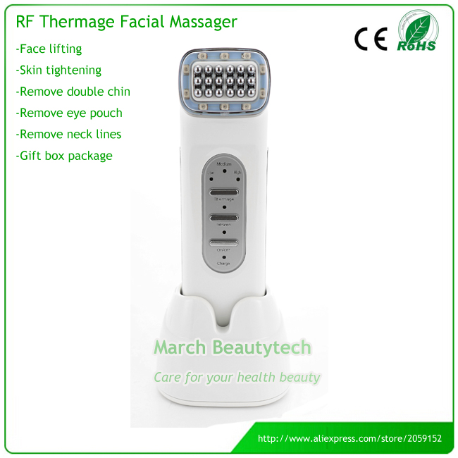 Handheld Anti-aging Skin Lifting Double Chin Remove Portable Radio Frequency RF Thermage Beauty Massager Machine with Retail Box levitasion набор relax skin beauty box