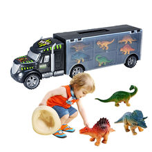 Dinosaur Truck Dinosaurs Transport Car Carrier Truck Toy with 6 Dinosaurs Toys Collection Gifts Children Kids Toys Diecast(China)