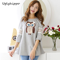 Maternity clothes 2017 New fashion Casual Owl Print Clothing For Pregnant Women Maternity Clothes MO40