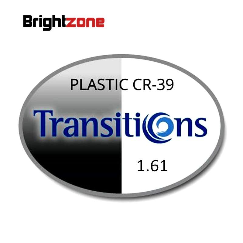 1.61 photochromique gris et brun Transition HMC UV AR unisexe CR-39 lunettes de vue prescription RX lentilles pour myopie et astigmatisme