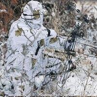 Зимние Dead Man бионический Охота Для мужчин водонепроницаемые Куртки брюки фотографии дикие CS birdwatch камуфляж снег cottonset Ghillie Костюмы