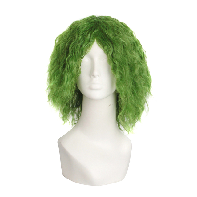 Short Green Curly Hair Green Devil Cosplay Hair Anime Hair Joker